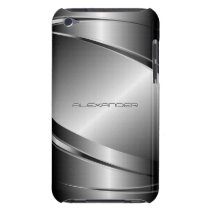 Gray Tones Stainless Steel Metalli Look- Monogram Case-Mate iPod Touch Case