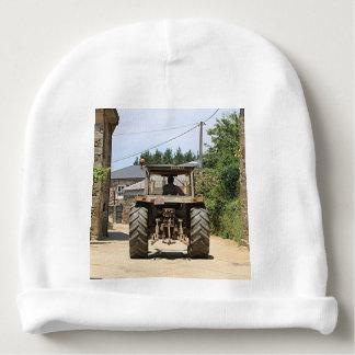 Gray Tractor on El Camino, Spain Baby Beanie