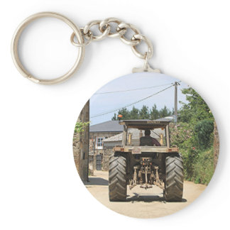 Gray Tractor on El Camino, Spain Keychain