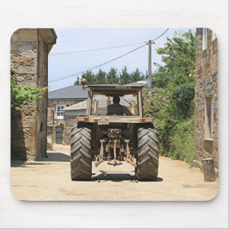 Gray Tractor on El Camino, Spain Mouse Pad