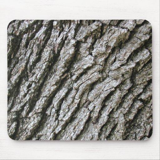 Gray Tree Bark Mousepad Mousepads