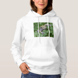 Gray tree frog on fern, Canada Hoodie