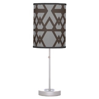 Gray Triangle Ethnic Pattern Desk Lamp