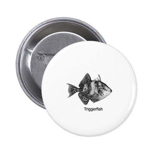 Gray Triggerfish Logo Pinback Button