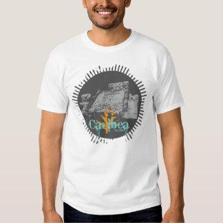 Gray Tulum Pyramid Grunge Tee Shirt
