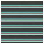 [ Thumbnail: Gray, Turquoise, Brown, Light Sea Green & Black Fabric ]