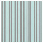 [ Thumbnail: Gray & Turquoise Colored Pattern of Stripes Fabric ]