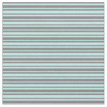 [ Thumbnail: Gray & Turquoise Colored Stripes Pattern Fabric ]
