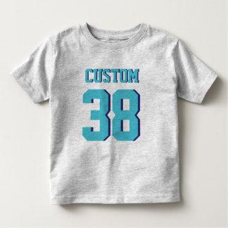 Gray & Turquoise Toddler | Sports Jersey Design Toddler T-shirt