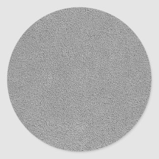 Gray Ultrasuede Look Classic Round Sticker