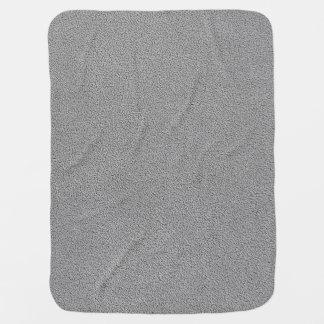 Gray Ultrasuede Look Stroller Blanket