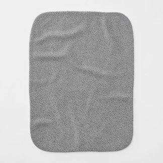 Gray Ultrasuede Look Burp Cloths