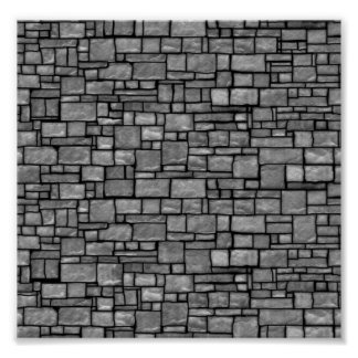 Gray Uneven Stone Wall Poster