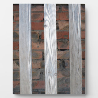 Gray unpainted wooden planks with natural texture plaque