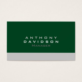 Gray Up Forest Green Standard Business Card