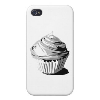 Gray vector cupcake iPhone 4/4S cover