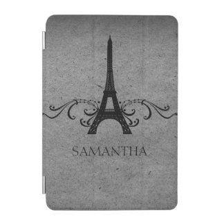 Gray Vintage French Flourish iPad Mini Cover