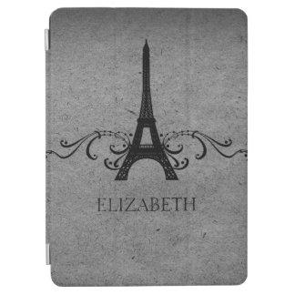 Gray Vintage French Flourish iPad Air Cover