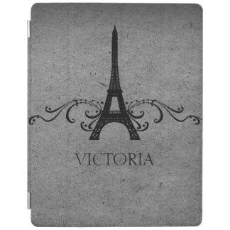 Gray Vintage French Flourish iPad Cover