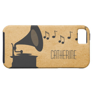 Gray Vintage Gramophone iPhone 5 Vibe Case