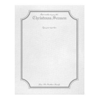 Gray Vintage Holiday / Christmas Letter Stationary Letterhead Design