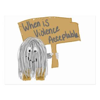 Gray Violence not acceptable Postcard