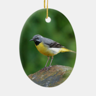 Gray Wagtail - bird Ceramic Ornament