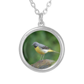 Gray Wagtail - bird Personalized Necklace