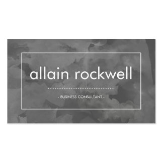 Gray Watercolor Business Card
