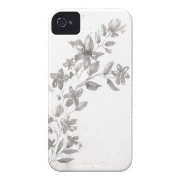 Gray watercolor Flower Case-Mate iPhone 4 Case