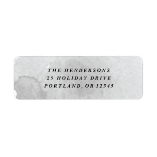 Gray watercolor wash return address label