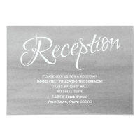 Gray Watercolor Wedding Reception Card