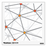 Gray Web and Nodes Pattern Wall Graphic