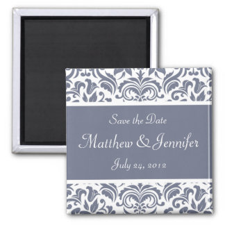 Gray Wedding Announcement Save the Date Magnet Fridge Magnets