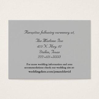 Gray Wedding enclosure cards