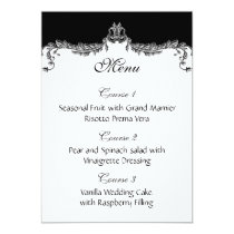 gray wedding menu card