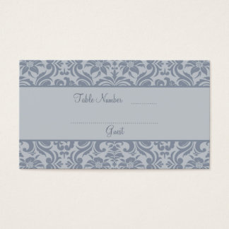 Gray Wedding Reception Table Place Cards