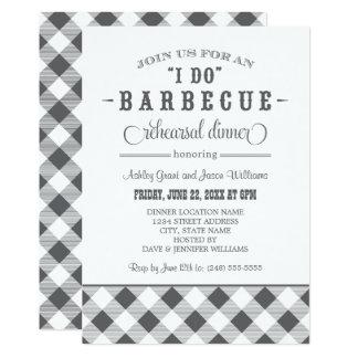 Gray Wedding Rehearsal Dinner | I Do BBQ Invites