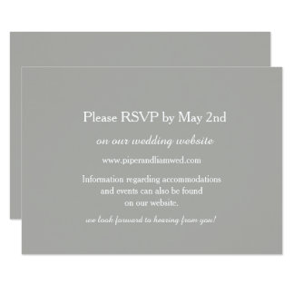 Gray Wedding Response Card