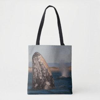 Gray Whale Head Portrait Tote Bag
