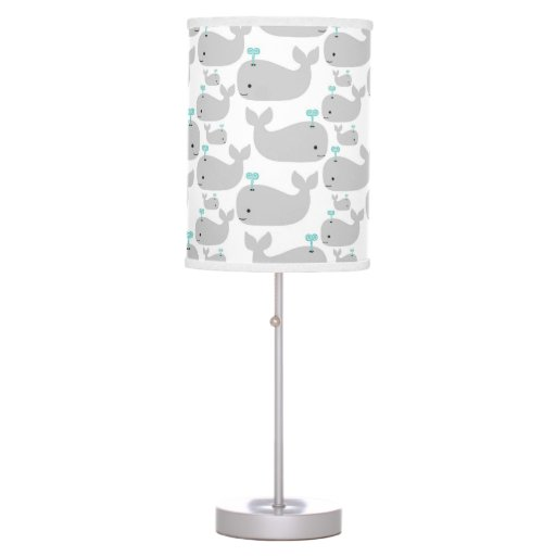 Gray Whale Nursery Print Table Lamps