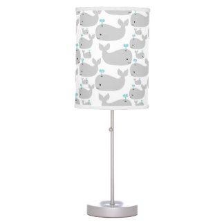 Gray Whale Nursery Print Table Lamp
