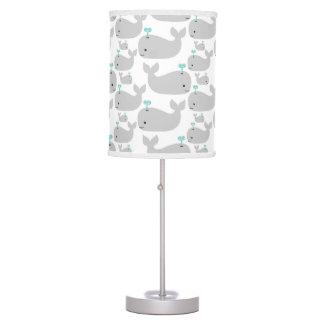 Gray Whale Nursery Print Table Lamp