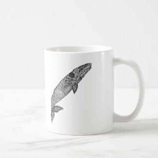 Gray Whale Sketch Classic White Coffee Mug