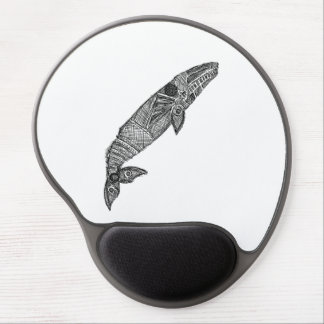 Gray Whale Sketch Gel Mouse Pad