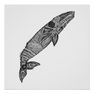Gray Whale Sketch Poster