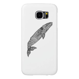 Gray Whale Sketch Samsung Galaxy S6 Cases