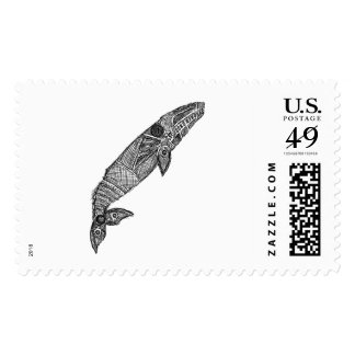 Gray Whale Sketch Stamp