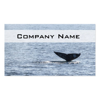Gray Whale Tail Business Card