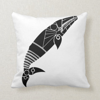 Gray Whale Throw Pillow